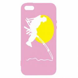 Чехол для iPhone5/5S/SE Рыбак - FatLine