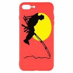 Чехол для iPhone 8 Plus Рыбак - FatLine