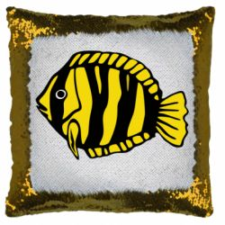 Подушка-хамелеон рибка