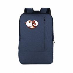 Рюкзак для ноутбука Сердечко. Котик и собачка
