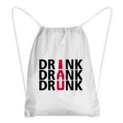 Рюкзак-мешок Drink Drank Drunk
