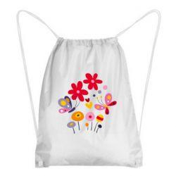 Рюкзак-мешок Flowers and Butterflies