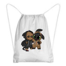 Рюкзак-мешок Groot And Toothless
