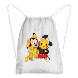 Рюкзак-мешок Mickey and Pikachu