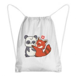 Рюкзак-мішок Panda and fire panda