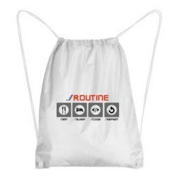 Рюкзак-мішок Routine code