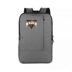 Рюкзак для ноутбука GTA 5 3D Logo - FatLine