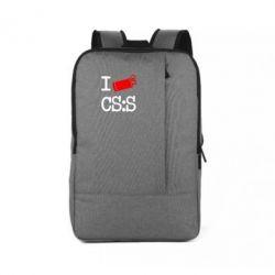 Рюкзак для ноутбука I love CS Source - FatLine