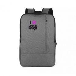 Рюкзак для ноутбука I love Linkin Park - FatLine