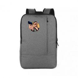 Рюкзак для ноутбука Лебовськи з пістолетом