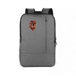 """Рюкзак для ноутбука Логотип World Of Tanks """"Раскаленный металл"""" - FatLine"""