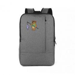 Рюкзак для ноутбука Медведь ловит рыбу - FatLine