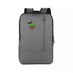 Рюкзак для ноутбука Minecraft Logo Сube - FatLine