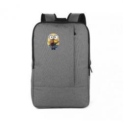 Рюкзак для ноутбука Миньон с мишкой - FatLine