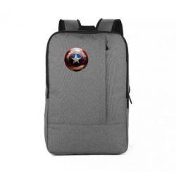 Рюкзак для ноутбука Потрескавшийся щит Капитана Америка - FatLine