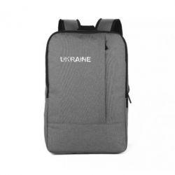 Рюкзак для ноутбука Ukraine (потрісканий напис) - FatLine