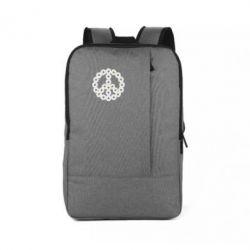 Рюкзак для ноутбука Знак мира из ромашек - FatLine