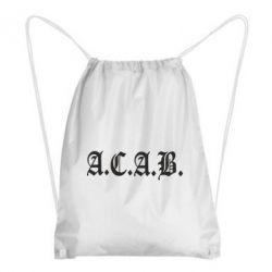 Рюкзак-мешок A.C.A.B. - FatLine