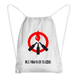 Рюкзак-мешок All you need is love (Коктейль Молотова) - FatLine