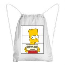 Рюкзак-мешок Барт в тюряге - FatLine