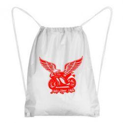 Рюкзак-мешок Байк с крыльями - FatLine