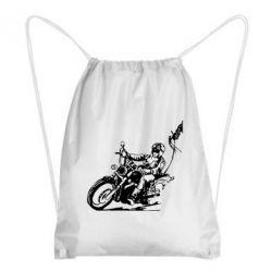 Рюкзак-мешок Байкер на мотоцикле - FatLine