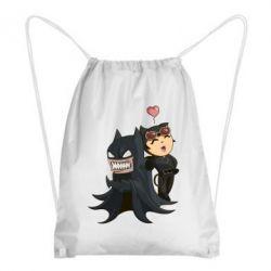 Рюкзак-мешок Catwoman and Angry Batman - FatLine