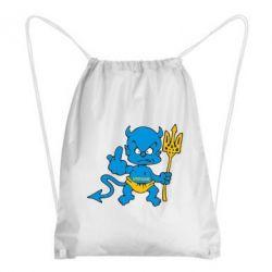 Рюкзак-мешок Чертик з трезубом - FatLine