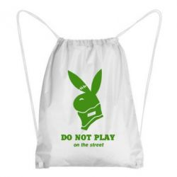 Рюкзак-мешок Do not play on the street (Playboy)