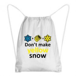 Рюкзак-мешок Don't Make Yellow snow