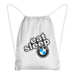 Рюкзак-мішок Eat, sleep, BMW