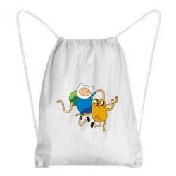 Рюкзак-мешок Фин и Джейк танцуют 2 - FatLine