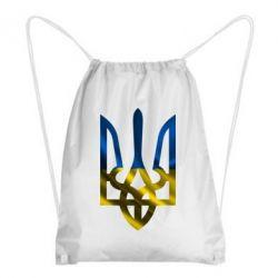 Рюкзак-мешок Герб на фоні прапора - FatLine