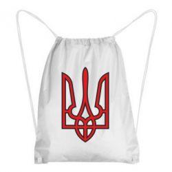 Рюкзак-мешок Герб України (двокольоровий) - FatLine