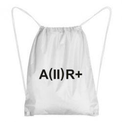 Рюкзак-мешок Группа крови (2)А+