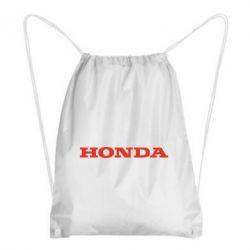 Рюкзак-мешок Honda надпись - FatLine