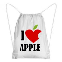 Рюкзак-мешок I love APPLE