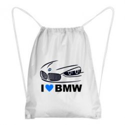 Рюкзак-мешок I love BMW 2 - FatLine