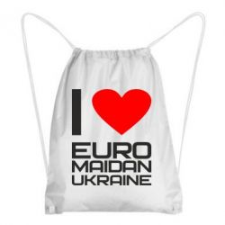 Рюкзак-мешок I love Euromaydan Ukraine - FatLine