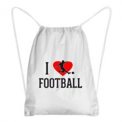 Рюкзак-мешок I love football - FatLine