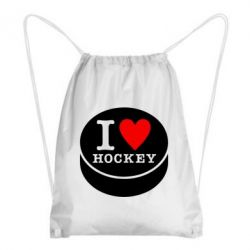 Рюкзак-мешок I love hockey