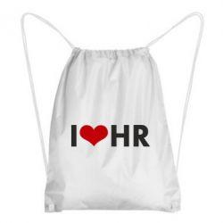 Рюкзак-мешок I love HR