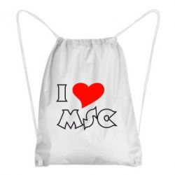 Рюкзак-мешок I love MSC - FatLine
