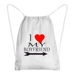 Рюкзак-мешок I love my boyfriend - FatLine