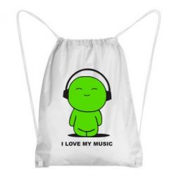 Рюкзак-мешок I love my music - FatLine