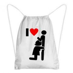 Рюкзак-мішок I love oral