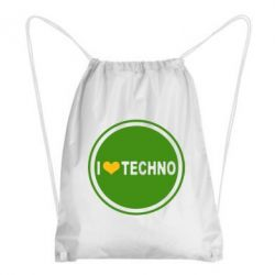 Рюкзак-мешок I love techno music - FatLine