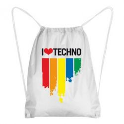 Рюкзак-мешок I love techno - FatLine