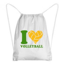 Рюкзак-мешок I love volleyball - FatLine