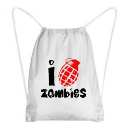 Рюкзак-мешок I love zombies - FatLine
